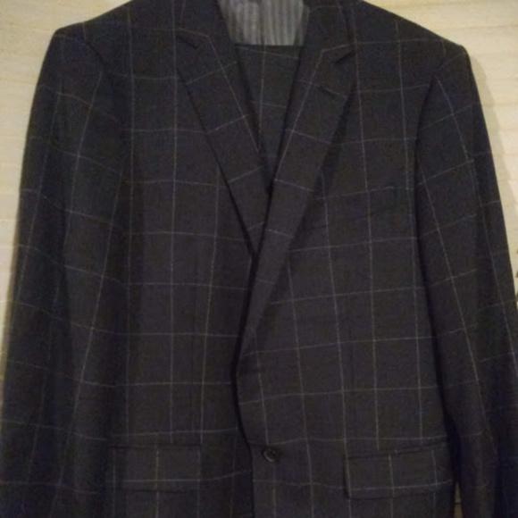 3f12201ce260 Banana Republic Suits & Blazers   Dk Grey Window Pane Heritage Suit ...